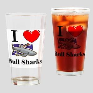 Bull-Sharks8665 Drinking Glass