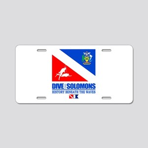 Dive the Solomons Aluminum License Plate