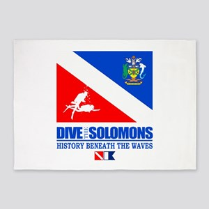 Dive the Solomons 5'x7'Area Rug
