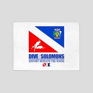 Dive the Solomons 5'x7'Area Rug
