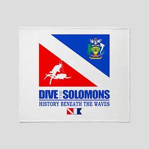 Dive the Solomons Throw Blanket
