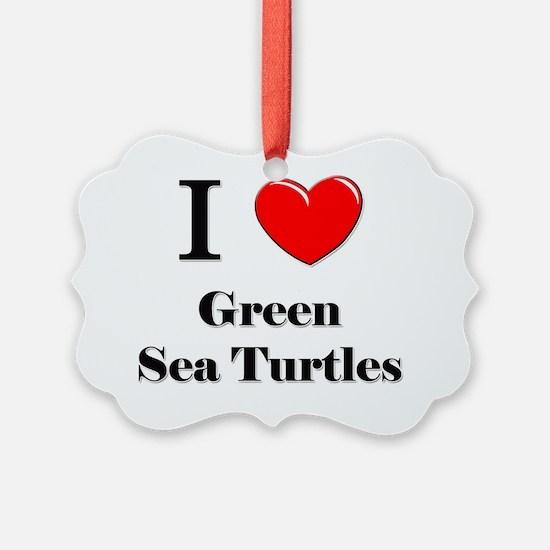 Green-Sea-Turtles88 Ornament