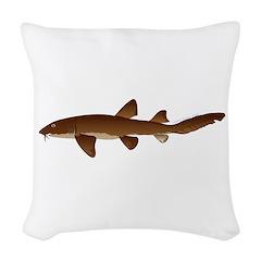 Nurse Shark Woven Throw Pillow