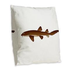 Nurse Shark Burlap Throw Pillow