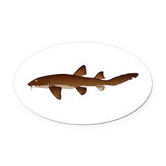 Nurse Shark Oval Car Magnet
