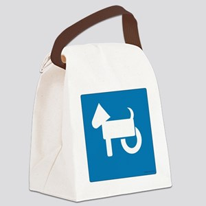 Wheelchair Dog Canvas Lunch Bag