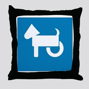 Wheelchair Dog Throw Pillow