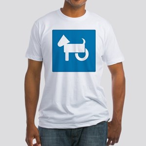 Wheelchair Dog Fitted T-Shirt