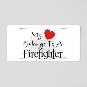 My heart belongs Aluminum License Plate