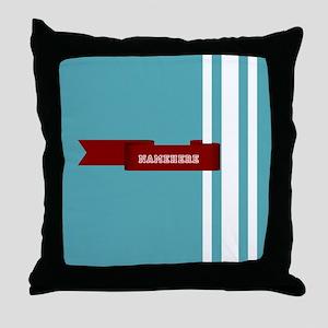 Custom Sporty Banner Throw Pillow
