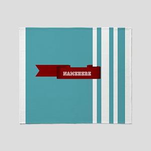 Custom Sporty Banner Throw Blanket