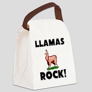 LLAMAS54196 Canvas Lunch Bag