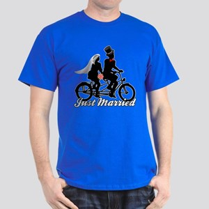 Just Married Cyclists Dark T-Shirt