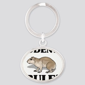 RODENTS9392 Oval Keychain