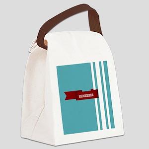 Custom Sporty Banner Canvas Lunch Bag