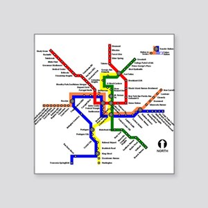 DC Metro Map Sticker