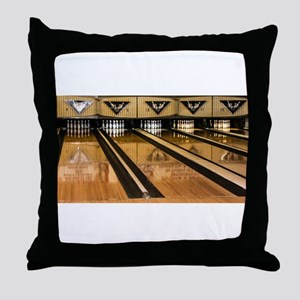 The Bowling Alley Throw Pillow