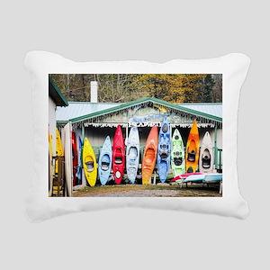 Kayaks Rectangular Canvas Pillow