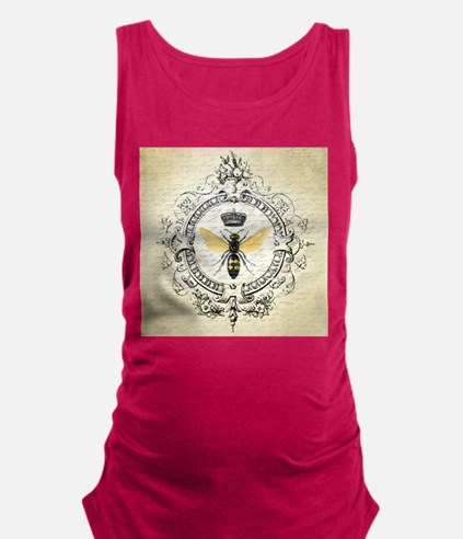 Vintage French Queen Bee Maternity Tank Top