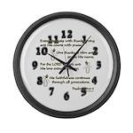 Psalm 100 Large Wall Clock