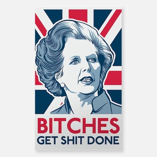 Margaret Thatcher Bitches Decal
