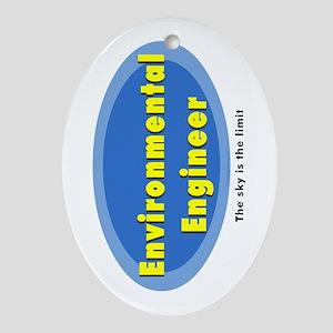 Environmental Blue Oval Ornament (Oval)