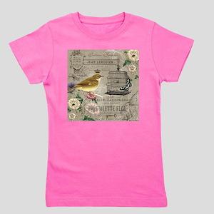 Vintage French Bird Girl's Tee