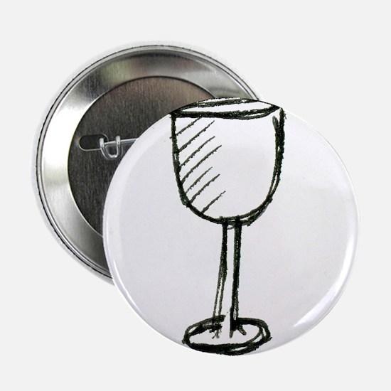 "A Wine Glass Pen Illustration 2.25"" Button"