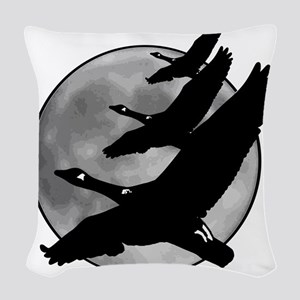 Canadian Geese Woven Throw Pillow