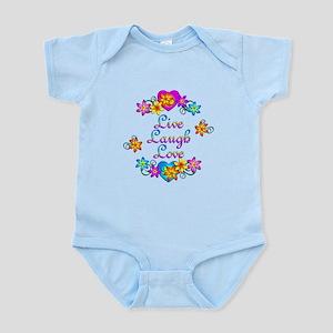 Live Laugh Love Flowers Infant Bodysuit