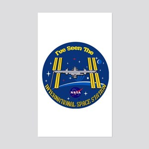 I Saw the ISS!! Sticker (Rectangle)