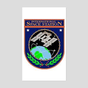 ISS Program Logo Sticker (Rectangle)