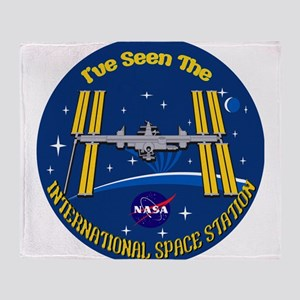I Saw the ISS!! Throw Blanket