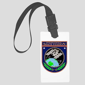 ISS Program Logo Large Luggage Tag