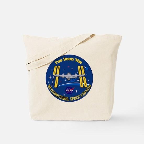 I Saw the ISS!! Tote Bag