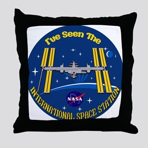 I Saw the ISS!! Throw Pillow