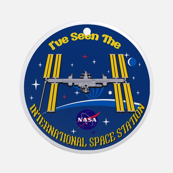 I Saw the ISS!! Ornament (Round)