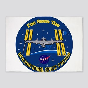 I Saw the ISS!! 5'x7'Area Rug