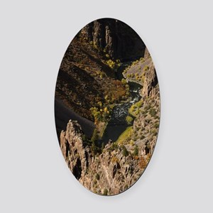 Black Canyon of the Gunnison Oval Car Magnet