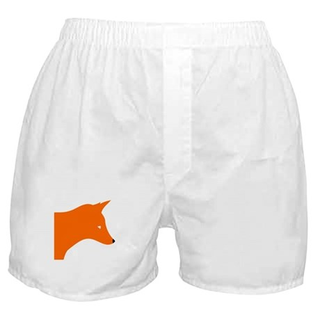 Orange Fox Boxer Shorts