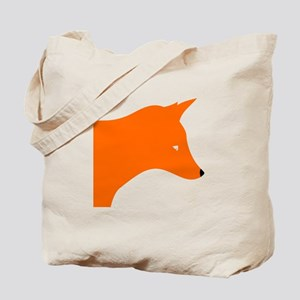 Orange Fox Tote Bag