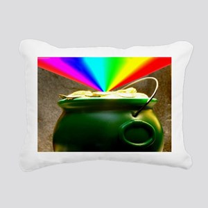 Rainbow and a lucky pile Rectangular Canvas Pillow