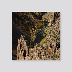 """Black Canyon of the Gunniso Square Sticker 3"""" x 3"""""""