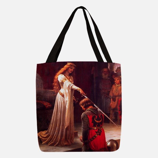 Knighting the Knight Polyester Tote Bag