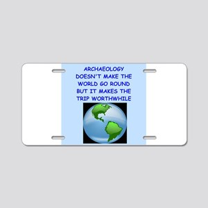 archaeology Aluminum License Plate