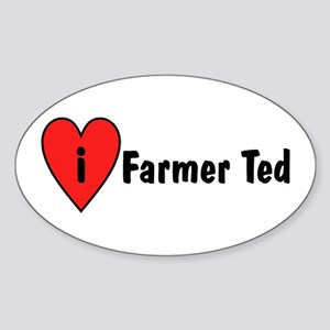 I Love Farmer Ted Sticker (Oval)