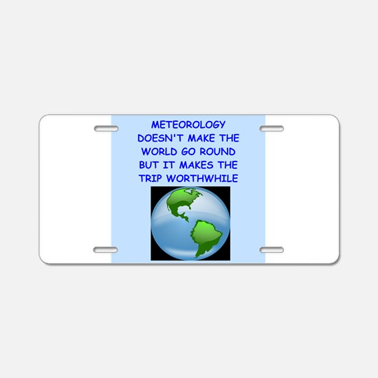 meteorology Aluminum License Plate