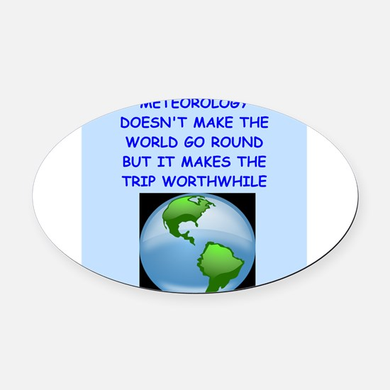 meteorology Oval Car Magnet