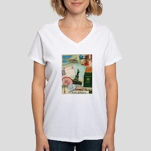 Vintage Passport travel collage T-Shirt