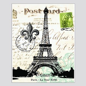 Vintage French Carte Postale Eiffel Tower Posters
